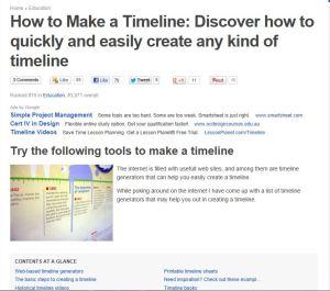 timeline creation