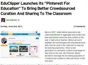 Pinterest for education