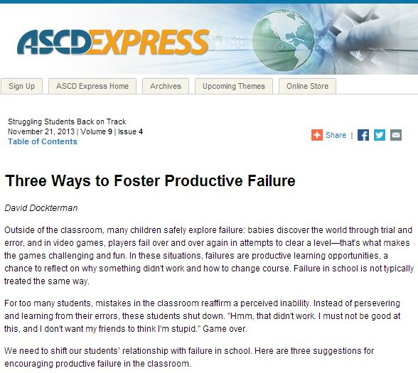 Three ways to foster productive failure